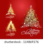 Set Of Christmas Tree With Hand ...