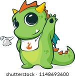 Little Green Dragons Mascot...