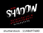 modern font with shadow effect  ... | Shutterstock .eps vector #1148697680
