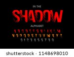 modern font with shadow effect  ... | Shutterstock .eps vector #1148698010