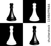 realistic chess pieces on black ... | Shutterstock .eps vector #1148699666