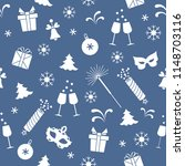 seamless pattern with new year... | Shutterstock .eps vector #1148703116