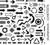 various arrows seamless pattern   Shutterstock .eps vector #114870376