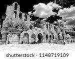 odeon of herodes atticus in... | Shutterstock . vector #1148719109