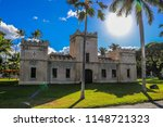 Historic church on the grounds of Lolani Palace in downtown Honolulu, Hawaii