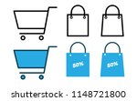 shopping cart and bag | Shutterstock .eps vector #1148721800