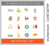 metaphors vector icon set.... | Shutterstock .eps vector #1148728709