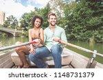 happy couple having fun on a... | Shutterstock . vector #1148731379