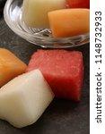 preparing fresh melon | Shutterstock . vector #1148732933