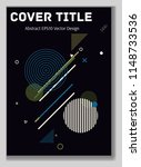 cover layout blue design.... | Shutterstock .eps vector #1148733536