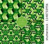 set of seamless vector... | Shutterstock .eps vector #1148733956