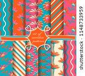 set of seamless vector... | Shutterstock .eps vector #1148733959