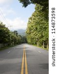 Asia country road ,chiangmai Thailand - stock photo