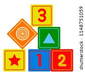 isolated baby cubes toy icon | Shutterstock .eps vector #1148751059