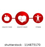 wellness and medical symbol.... | Shutterstock . vector #114875170