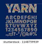 creative font in the form of...   Shutterstock .eps vector #1148759939