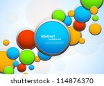 background with circles | Shutterstock .eps vector #114876370