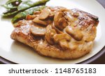ketogenic pork chop with... | Shutterstock . vector #1148765183