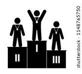 the winners podium | Shutterstock .eps vector #1148765750
