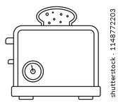 timer toaster icon. outline... | Shutterstock .eps vector #1148772203