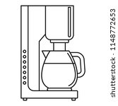 coffee maker icon. outline... | Shutterstock .eps vector #1148772653
