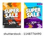 super sale posters design... | Shutterstock .eps vector #1148776490