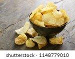 potato crisp chips | Shutterstock . vector #1148779010