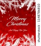 merry christmas greetings on... | Shutterstock . vector #1148786810