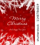 merry christmas greetings on... | Shutterstock . vector #1148786819