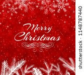 merry christmas greetings on... | Shutterstock . vector #1148787440