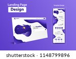 new trendy landing page website ...