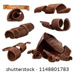 chocolate shavings and pieces ... | Shutterstock .eps vector #1148801783