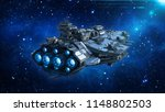 alien spaceship in the universe ... | Shutterstock . vector #1148802503