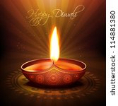 beautiful diwali diya vector... | Shutterstock .eps vector #114881380
