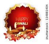 beautiful diwali vector...   Shutterstock .eps vector #114881404