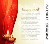 beautiful diwali vector... | Shutterstock .eps vector #114881440