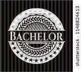 bachelor silver shiny badge   Shutterstock .eps vector #1148824613