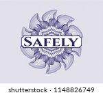 blue rosette  money style... | Shutterstock .eps vector #1148826749