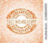 free membership orange mosaic... | Shutterstock .eps vector #1148834093