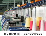 textile industry with knitting... | Shutterstock . vector #1148840183