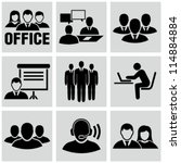 office people icons set. | Shutterstock .eps vector #114884884