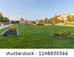 king tomislav park in zagreb on ... | Shutterstock . vector #1148850566