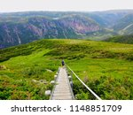 hiking in beautiful gros morne... | Shutterstock . vector #1148851709