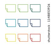 colorful paper icon set | Shutterstock .eps vector #1148853926
