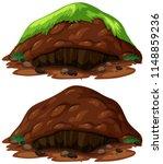 set of dirt mounds illustration   Shutterstock .eps vector #1148859236