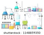 set of science equipment... | Shutterstock .eps vector #1148859350