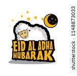 eid al adha mubarak has mean...   Shutterstock .eps vector #1148873033