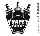 vape liquid shop logo. simple... | Shutterstock .eps vector #1148874149