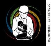 prayer  christian praying... | Shutterstock .eps vector #1148875220