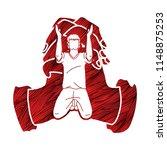 prayer  christian praying... | Shutterstock .eps vector #1148875253